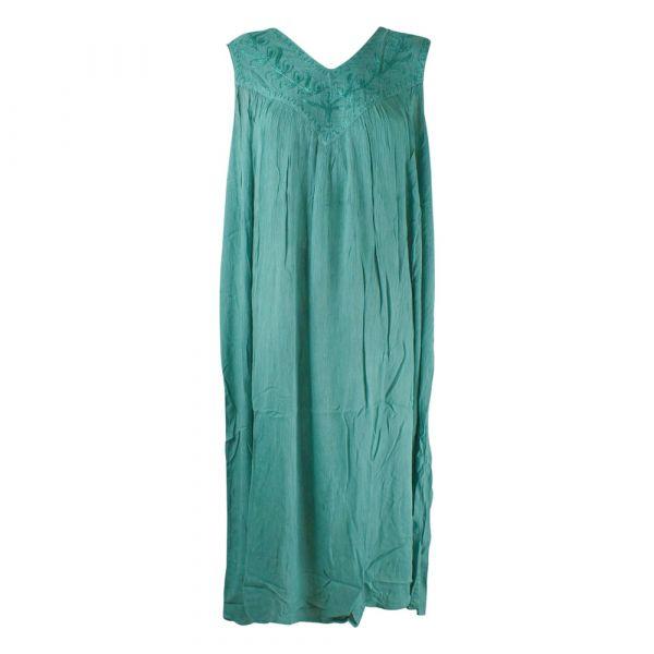 Robe Longue Ample Tusura Vert d'eau