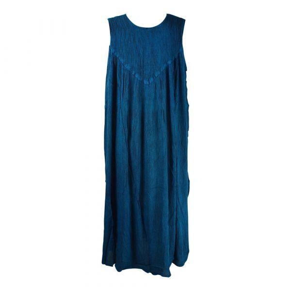 Robe Longue Ample Tusura Bleu Foncé