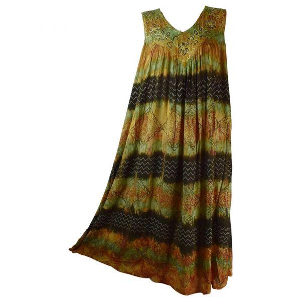 Robe Longue Grande Taille Hindol Marron