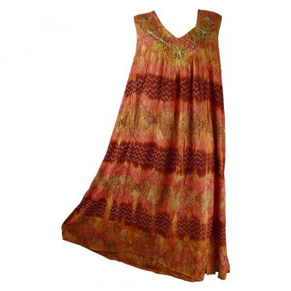 Robe Longue Grande Taille Hindol Orange