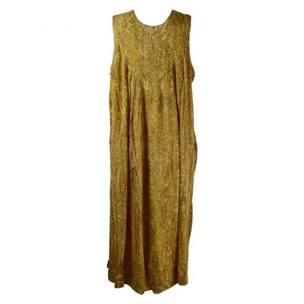 Robe Longue Grande Taille Banki Batik Marron