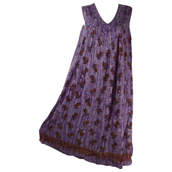 Robe Longue Grande Taille Banki Batik Violet