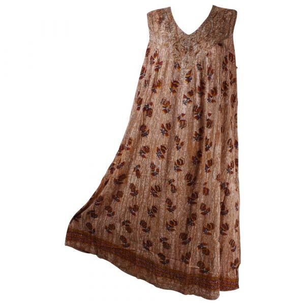 Robe Longue Grande Taille Banki Batik Saumon