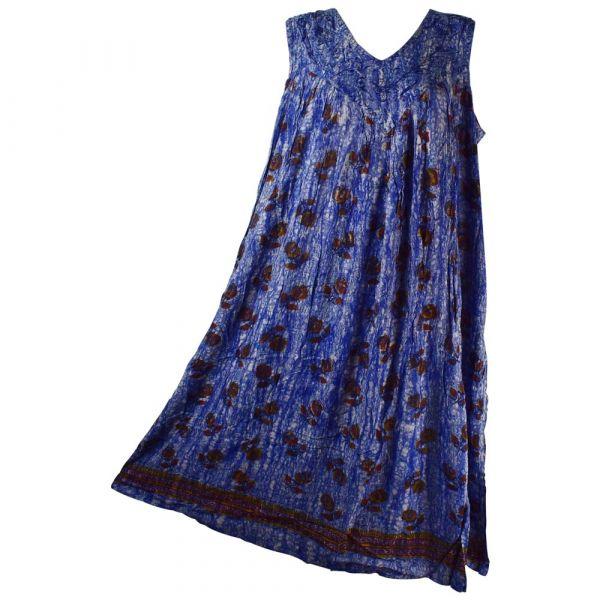 Robe Longue Grande Taille Banki Batik Bleu