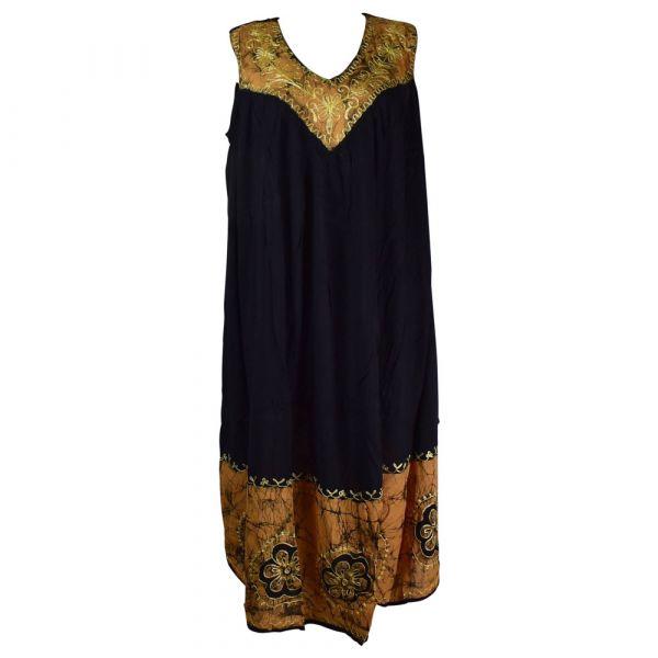 Robe Longue Grande Taille Duburi Marron