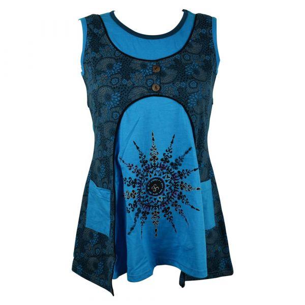 Haut Dabria Sans Manches Maille Jersey Bleu
