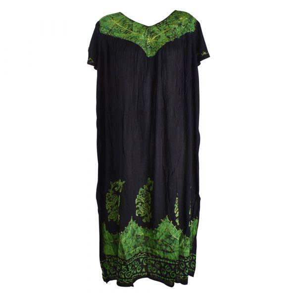 Robe Longue Grande Taille Jalia Batik Vert