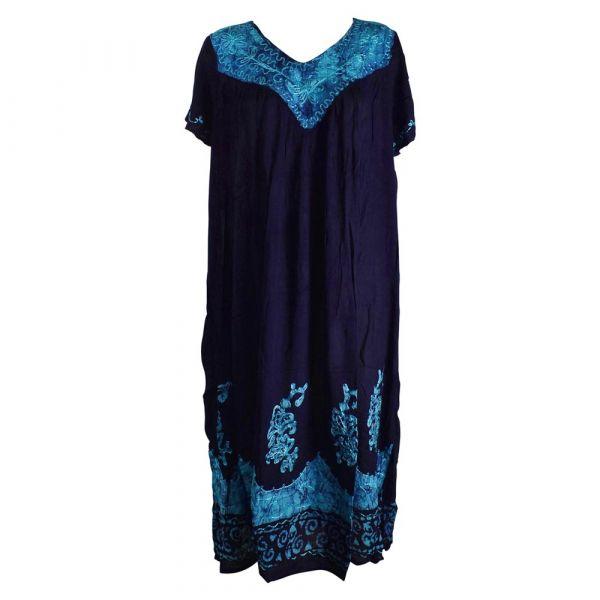 Robe Longue Grande Taille Jalia Batik Turquoise