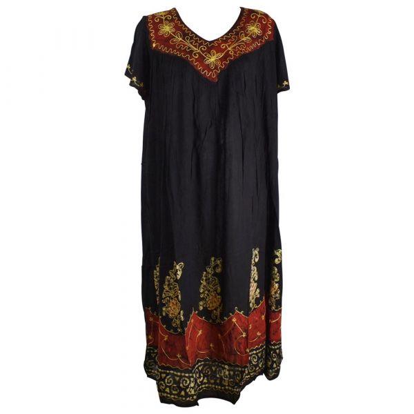 Robe Longue Grande Taille Jalia Batik Bordeaux