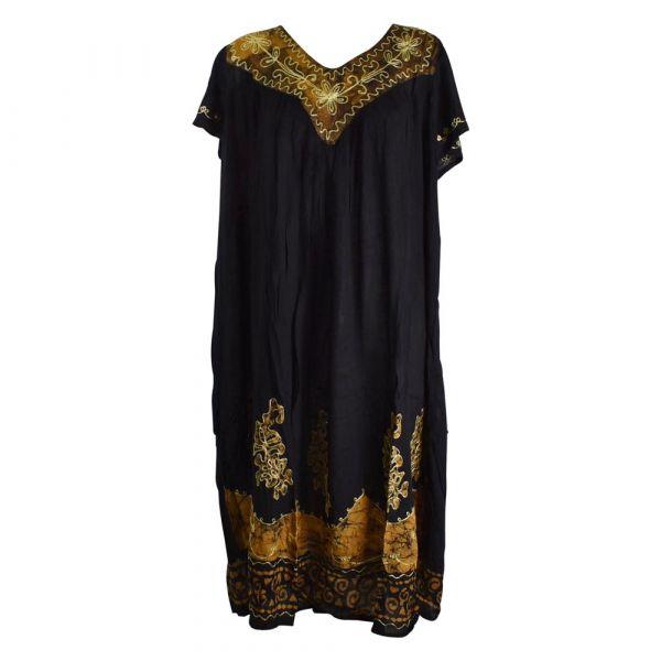 Robe Longue Grande Taille Jalia Batik Marron