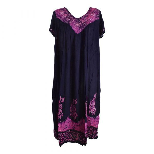 Robe Longue Grande Taille Jalia Batik Parme