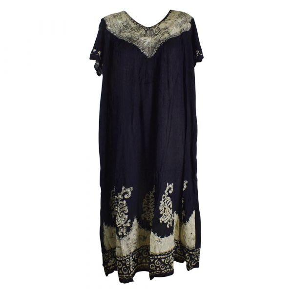 Robe Longue Grande Taille Jalia Batik Ecru
