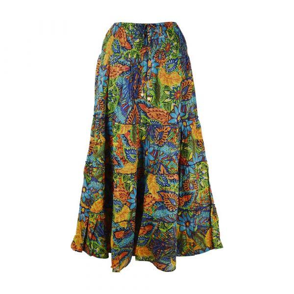 Jupe Longue Sihini Coton Imprimé