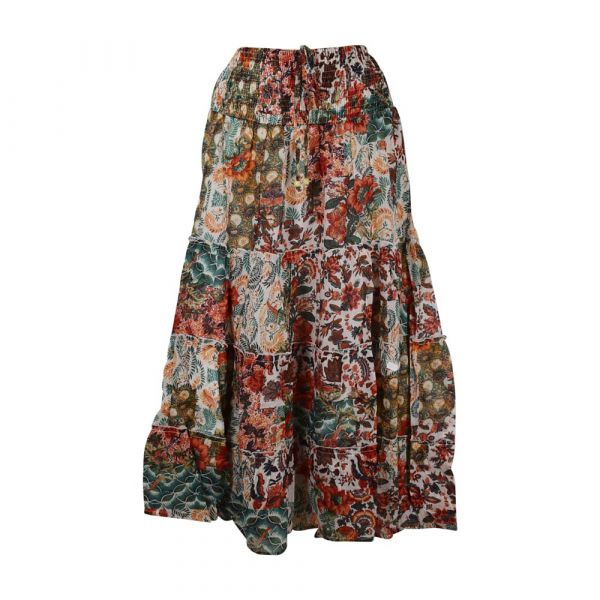 Jupe Longue Jalia Coton Imprimé Floral