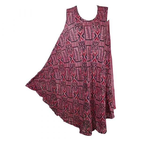 Robe Courte Nakti Batik Graphique