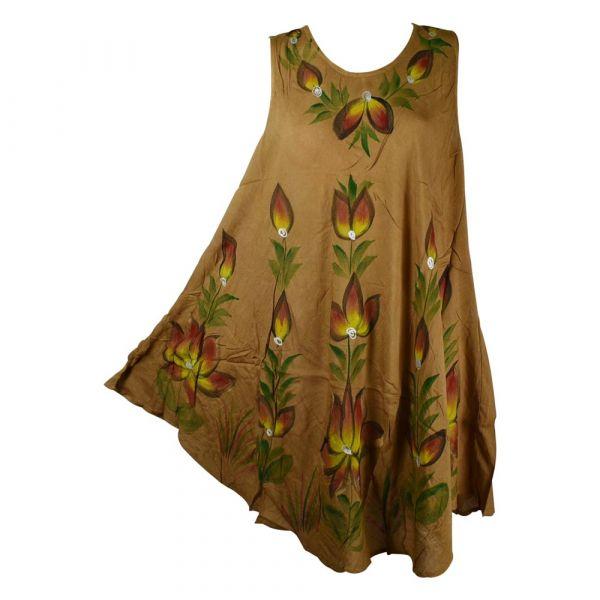 Robe Évasée Dangia Peint Motif Floral